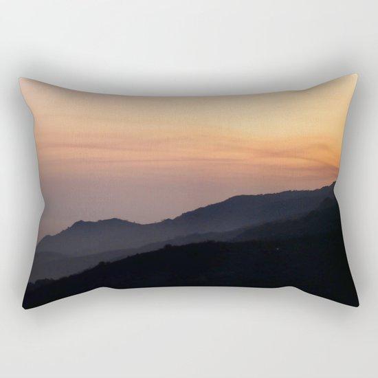 Hillside Sunset Rectangular Pillow