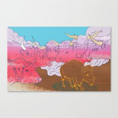 WHERE THE BUFFALO ROAM? Canvas Print