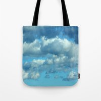 german Tote Bags featuring German clouds by LoRo  Art & Pictures