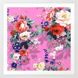 Bouquets with roses 6 Art Print