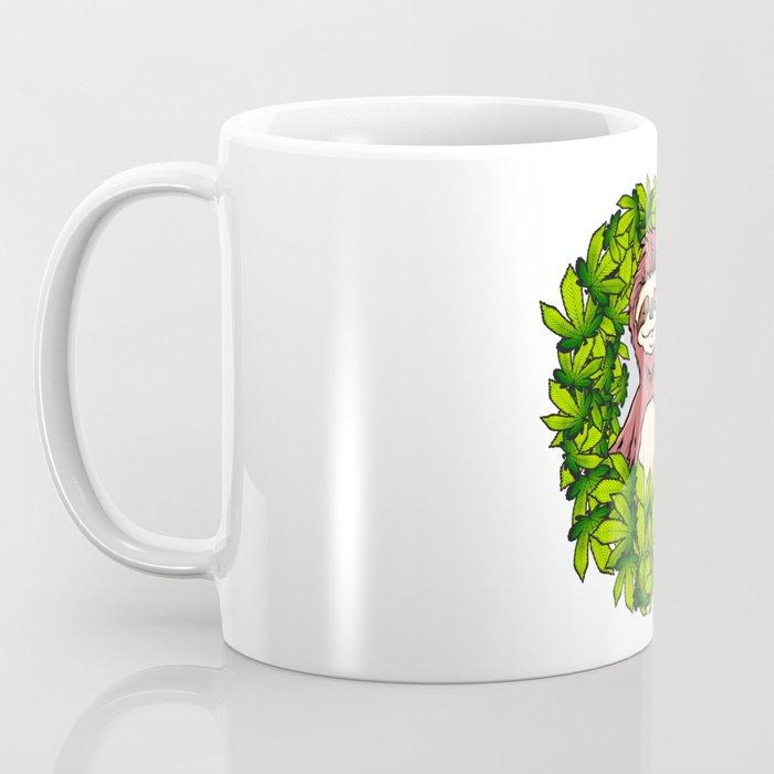 Stoned Sloth   Weed Cannabis THC CBD Ganja Coffee Mug