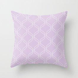 Double Helix - Light Purples #367 Throw Pillow