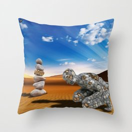 Homem de Pedra Throw Pillow