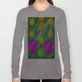 Dots and acrylpaint pattern Long Sleeve T-shirt