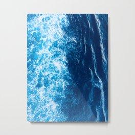 blue waving Metal Print