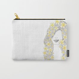 365 cabelos - yellow flowers Carry-All Pouch