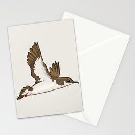 Simple Minimalist Manx Shearwater Flying Stationery Cards