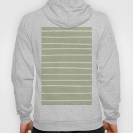 Dover White 33-6 Hand Drawn Horizontal Lines on Melon Green 18-28 Hoody
