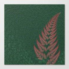Fall Fern Fractal Canvas Print