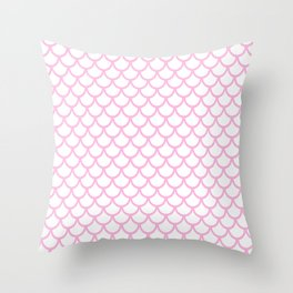 Scales (Pink & White Pattern) Throw Pillow
