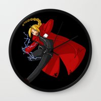 fullmetal Wall Clocks featuring Spark by WindRider01