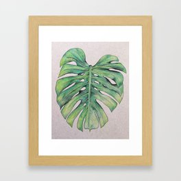 Monstera leaf Framed Art Print