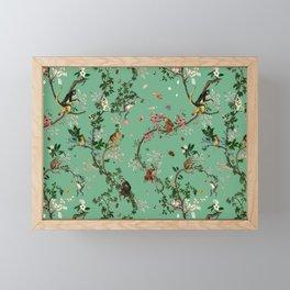 Monkey World Green Framed Mini Art Print