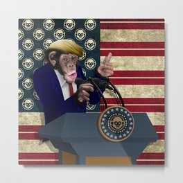 PRESIDENT of THE APES Metal Print