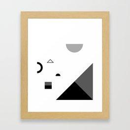 Fête No. 2 Geometric Monochrome Framed Art Print