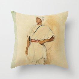 "Eugène Delacroix ""A standing Moroccan"" Throw Pillow"