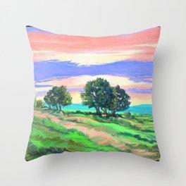 Sunset Still a Ways to Go Throw Pillow
