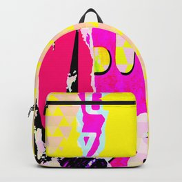 The River Flow - Abstract Pop Art Painting & Comic Backpack
