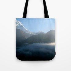 Mountains at Sunrise Poon Hill Tote Bag