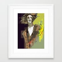 sandman Framed Art Prints featuring the sandman by thimblings
