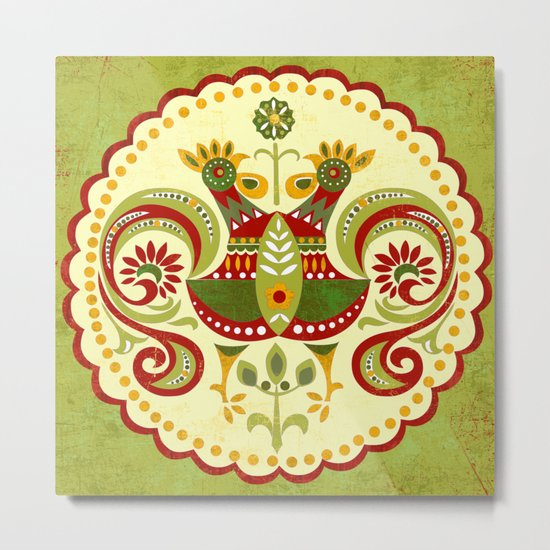 Folklore Mandala Metal Print