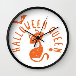 halloween queen Wall Clock