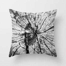 Cracked From The Middle Throw Pillow