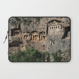 Lycian Tombs at Dalyan Close Up Laptop Sleeve