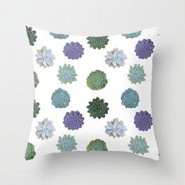 Succulent plant pattern 2 Throw Pillow