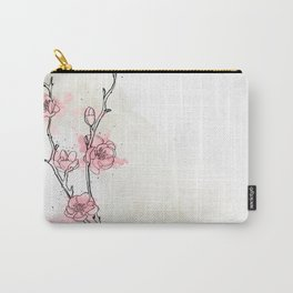 Watercolor Plum Blossom Carry-All Pouch