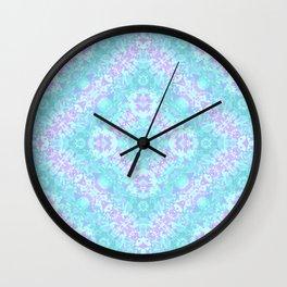 Cyan, Turquoise, and Purple Wall Clock