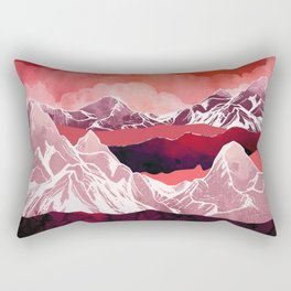 Scarlet Glow Rectangular Pillow