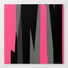 pink black and gray abstract Canvas Print