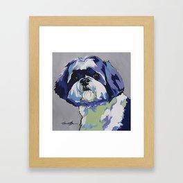 Shih Tzu Pop Art Pet Portrait Framed Art Print