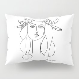 Picasso lady  Modern Sketch Picasso Art Modern Minimalist Pillow Sham