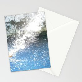 Paddle hitting and splashing the turquoise water Stationery Cards