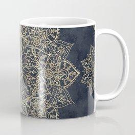 Elegant poinsettia flower and snowflakes mandala art Coffee Mug