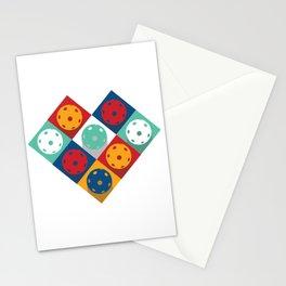 Pickleball - retro pattern,  Stationery Cards