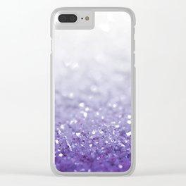 MERMAIDIANS PURPLE GLITTER Clear iPhone Case