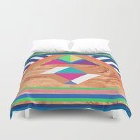 woody Duvet Covers featuring WOODY II by Bianca Green