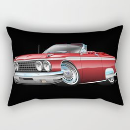 Early '60s Style American Classic Car Cartoon Rectangular Pillow