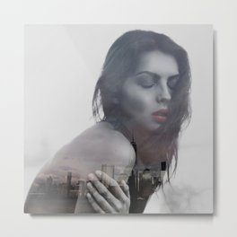 lonely in the city Metal Print
