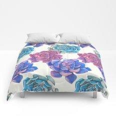 Vibrant Succulents  Comforters