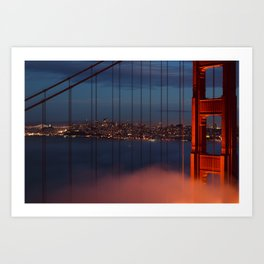 Bridge and City Art Print