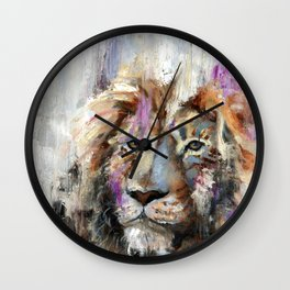 Remember Who You Are - Abstract Lion Painting Wall Clock