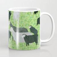 sheep Mugs featuring Sheep by Yuliya