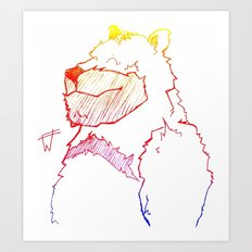 Bear Color Art Print