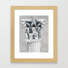 Corinthian Column Framed Art Print