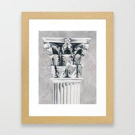 Corinthian Column Framed Art Print