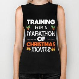 Christmas Movies Marathon Sofa funny gift Biker Tank